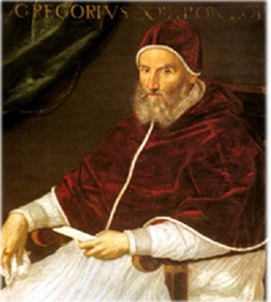 Papst Gregor XIII. Quelle: wikimedia